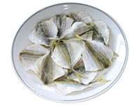 Dried yellow-stripe fish