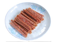 Dried salted salmon strip